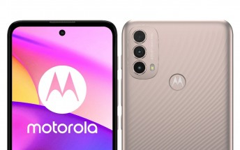 Motorola Moto E40 listed on retailer's website with specs, price, and images
