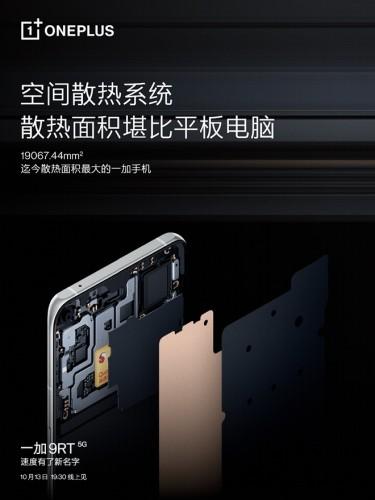 Sistema de refrigeración OnePlus 9RT (Foto: Weibo)