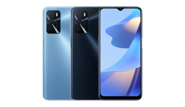 Oppo A54s en azul y negro (imagen: Oppo)
