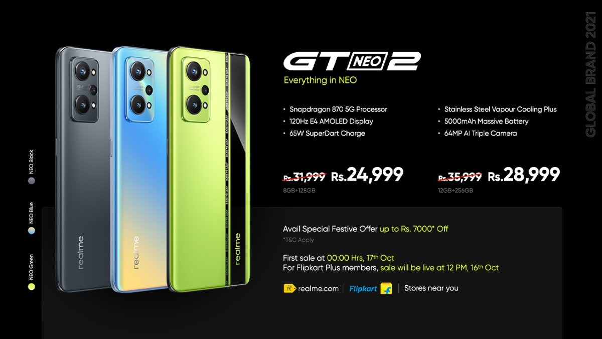 Realme GT Neo2 goes global with 120Hz display and Snapdragon 870, joined by AIoT lifestyle products