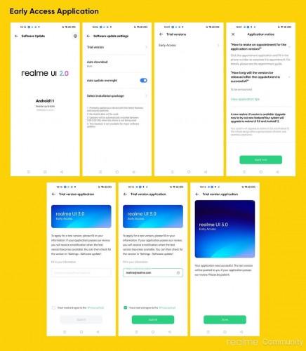 Instrucciones de acceso a la aplicación Realme UI 3.0 (imagen: Comunidad Realme)
