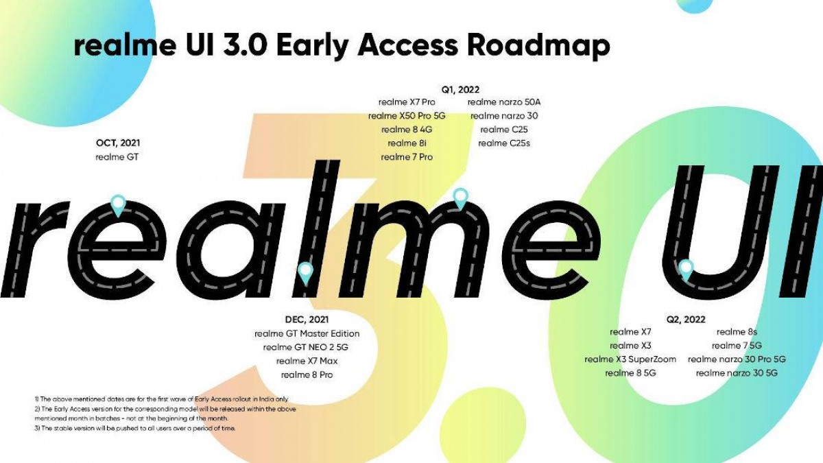 RealmeUI 3.0 is based on Android 12, first beta to come to GT line in October