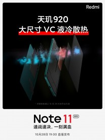 El Redmi Note 11 Pro será impulsado por el Dimensity 920