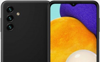 Samsung Galaxy A13 5G stars in detailed renders