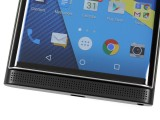 Blackberry Priv review: The front of the Priv offers only a display and speaker