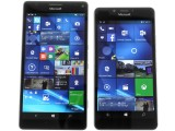 Microsoft Lumia 950 XL review: Microsoft Lumia 950 XL next to Lumia 950