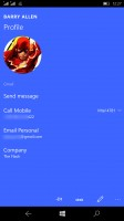 Microsoft Lumia 950 XL review: Viewing a contact
