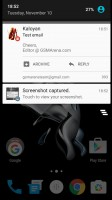 OnePlus X review: The notification area