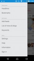 Sony Xperia Z5 Premium review: Socialife RSS reader