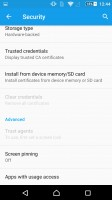 Sony Xperia Z5 Premium review: Security settings and the new fingerprint reader