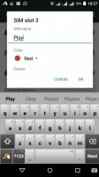 SIM card settings - Acer Liquid X2 review