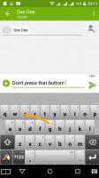 Swype keyboard - Acer Liquid X2 review