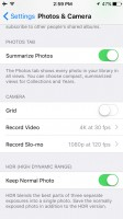 advanced settings - Apple iPhone SE review