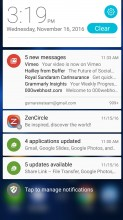 Notification shade - Asus Zenfone 3 ZE552KL review