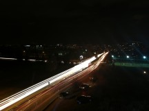 Low light samples: Car light trails - Huawei Mate 9 review