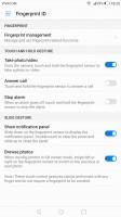 Fingerprint settings - Huawei Mate 9 review