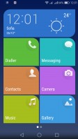 Simple homescreen with a tiled interface - Huawei P9 lite review