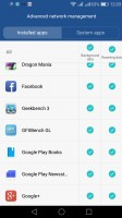 Managing which apps can connect to the Internet and how - Huawei P9 lite review