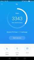 Health app homescreen - Huawei P9 review