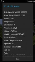 Detailed properties - Lenovo Vibe K5 review