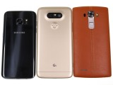 Samsung Galaxy S7 and LG G5 side by side (and G4 too) - LG G5 vs. Samsung Galaxy S7