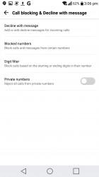 Blocking calls - LG V20 review