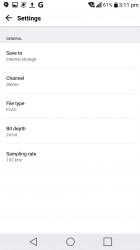 HD Audio recorder: Settings - LG V20 review