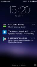 Lockscreen with notifications - Meizu MX6 review
