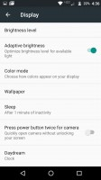 Display settings - Moto Z Droid Edition Review