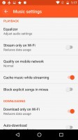 You can cache streamed music - Motorola Moto G4 Plus review