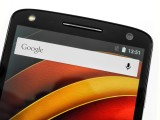 above the screen - Motorola Moto X Force review