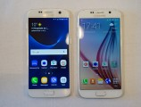 Samsung Galaxy S7 (left) and Samsung Galaxy S6 (right) - MWC 2016 Samsung