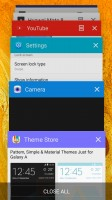 You can launch the split-screen multitasking mode from the app switcher - Samsung Galaxy A5 (2016) review