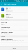 Setting up SIM duties - calls, texting and data - Samsung Galaxy A5 (2016) review