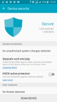 Device Security activates KNOX and scans for malware - Samsung Galaxy A5 (2016) review