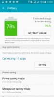 Checking up on the battery - Samsung Galaxy A7 (2016) review