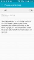 Power saving mode - Samsung Galaxy A7 (2016) review