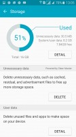 Cleaning up the storage - Samsung Galaxy A7 (2016) review