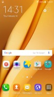 Homescreen - Samsung Galaxy A9 (2016) review