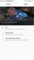 Game Launcher power savings - Samsung Galaxy Note7 review