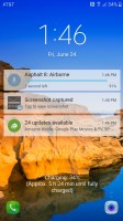 Notifications on lockscreen - Samsung Galaxy S7 Active review