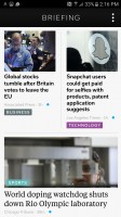 Flipboard Briefing: Only news can be viewed on the Briefing - Samsung Galaxy S7 Active review