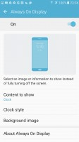 Always On display options - Samsung Galaxy S7 review