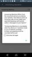 The Xperia X has a built-in answering machine - Sony Xperia E5  review