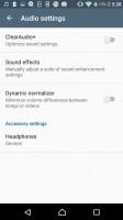 A fair amount of audio settings - Sony Xperia E5  review