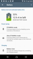 Stamina modes - Sony Xperia X Compact review