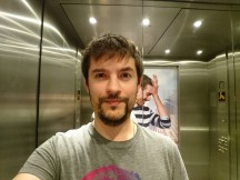 Selfie samples: elevator (a must for selfie lovers, but crazy difficult light) - Sony Xperia X Performance review