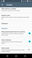 Tap to wake up (by double-tap) in Display settings - Sony Xperia X Performance review