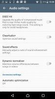 Audio settings - Sony Xperia X Performance review