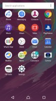 Standard app drawer - Sony Xperia XA Ultra review